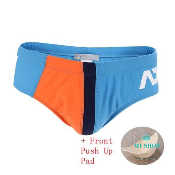 Men Swimwear Orange / L