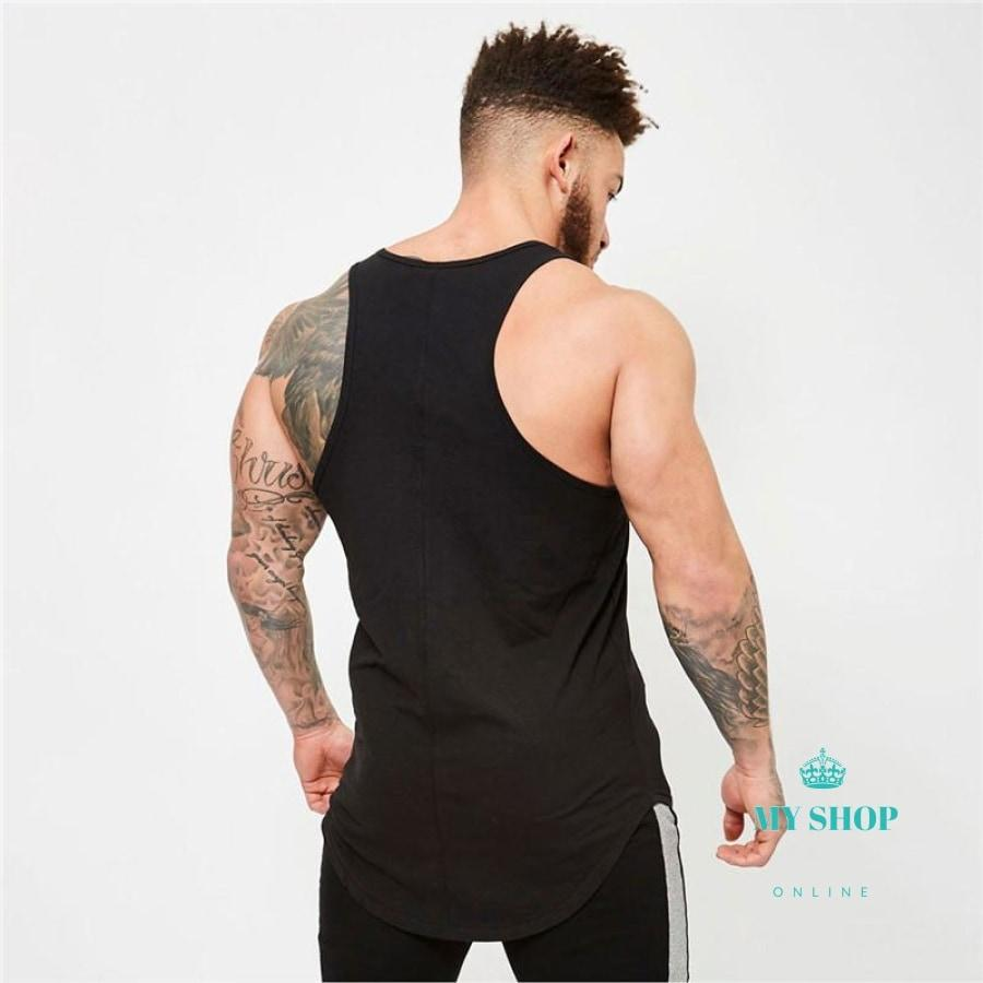 Men Tank Top Cotton Mens Fitness Stringer Vest T Shirts Sleeveless Accesorios