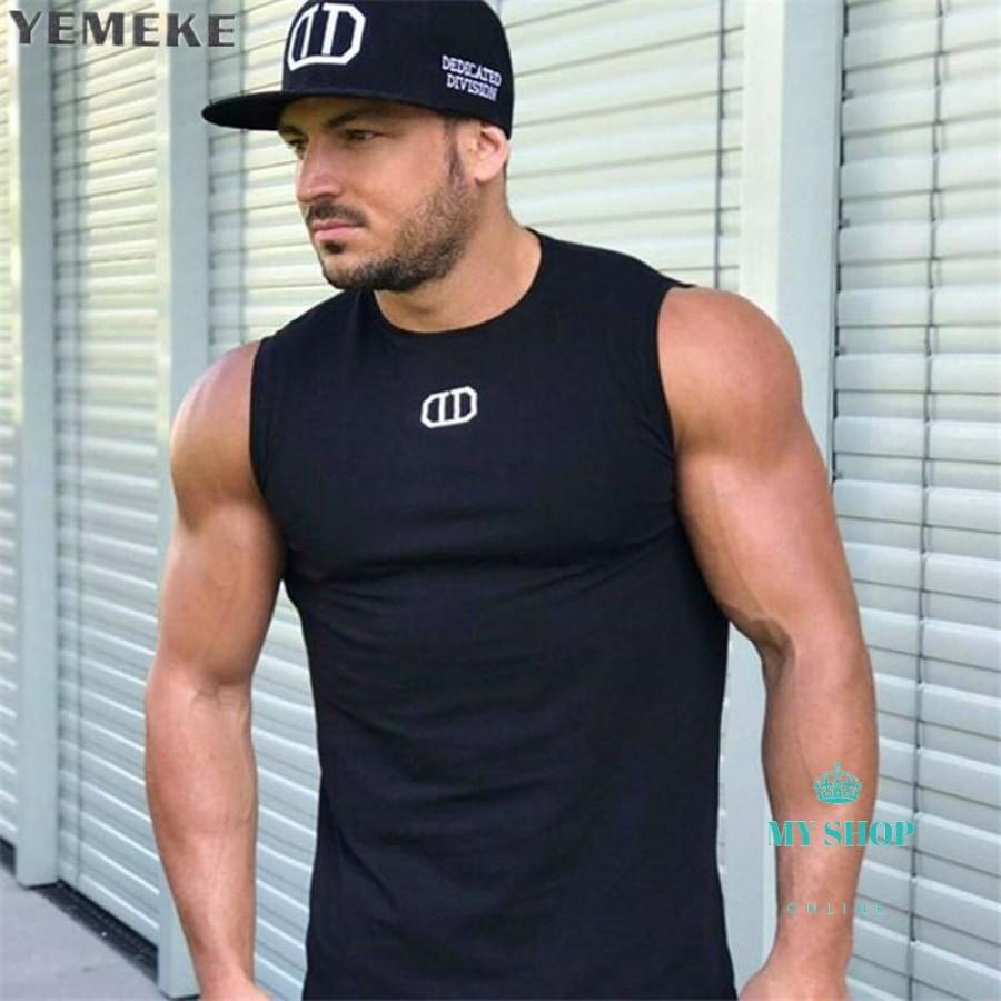 Men Tank Top New Brand Cotton High Quality Undershirt Bodybuilding Singlet Fitness Sleeveless Vest