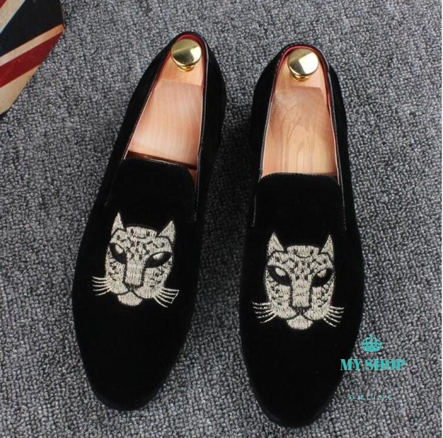 Men Velvet Loafers Party Accesorios