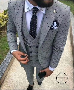 Men Wedding Suit Mens Suits With Pants Three Piece Kingsman Groom Gray