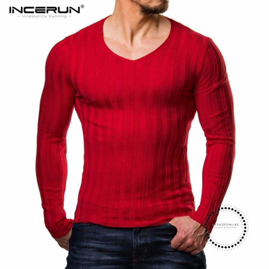 Mens Bodybuilding Muscle Long Sleeve Fitness Knitted T Shirt Homme Gyms Men Crossfit Tops Winter