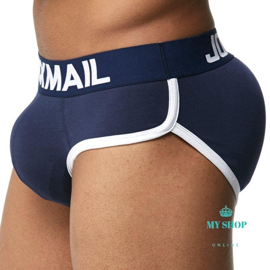 Mens Butt Pad Underwear + Sillicon Pads Butt Lifter Up Navy Blue / S Hombres