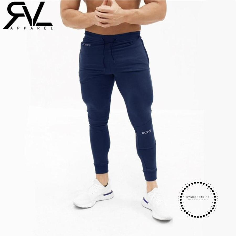 Mens Casual Fitness Joggers Pants Gyms Stretch Cotton Men Skinny Sweatpants Slim Workout