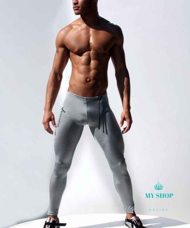 Mens Compression Pants Gray / M Deporte