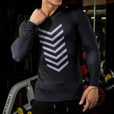 Mens Fitness Yoga Clothing Sports Running Hooded Sportswear Jogging High-Elasticity Quick-Drying