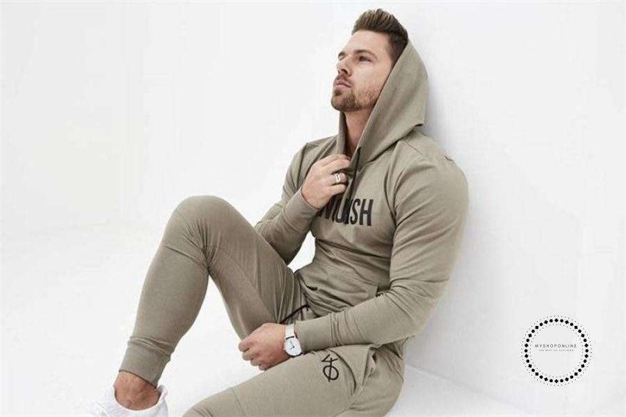 Mens Gyms Fitness Cotton Hoodie Sweatshirts Male Autumn Winter Fashion Casual Apparel Man Joggers