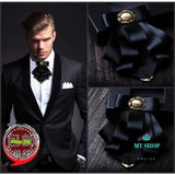 Mens Male Golden Horn Bow Tie Accesorios