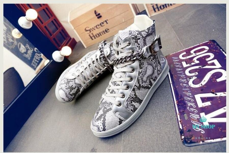 Mens Shoes Luxury Zipper Design Men Flats Casual Street Dance Metal Chain Accesorios