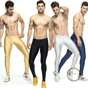 Mens Solid Color Running Tights Elastic Skinny Workout Leggings Basketball Compression Men Leggins