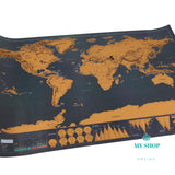 Mini Black Deluxe Travel Scrape World Map Poster Traveler Vacation Accesorios