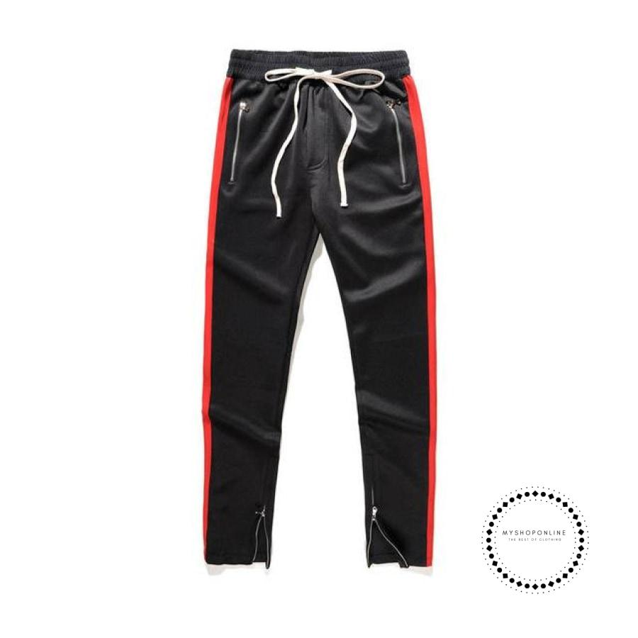 Pants Hip Hop Fashion Urban Clothing Fog Joining Together Jogger Black Red / L