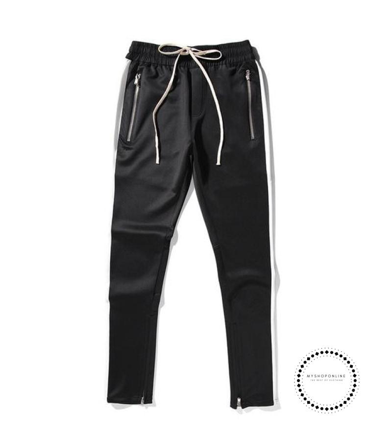 Pants Hip Hop Fashion Urban Clothing Fog Joining Together Jogger Black White / L