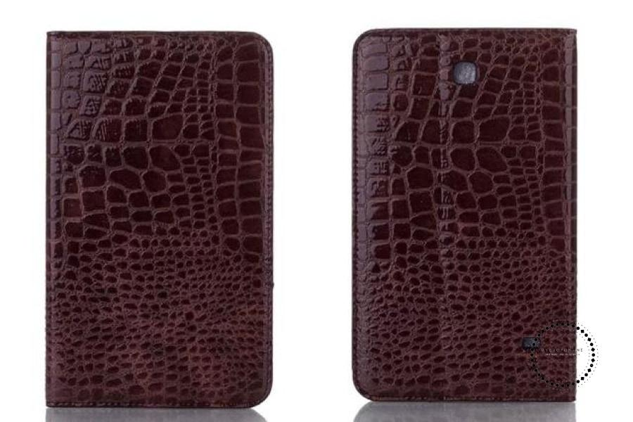 Pen+Film+Luxury Fashion Crocodile Leather Stand Case Smart Cover For All Tablet Cases Brown