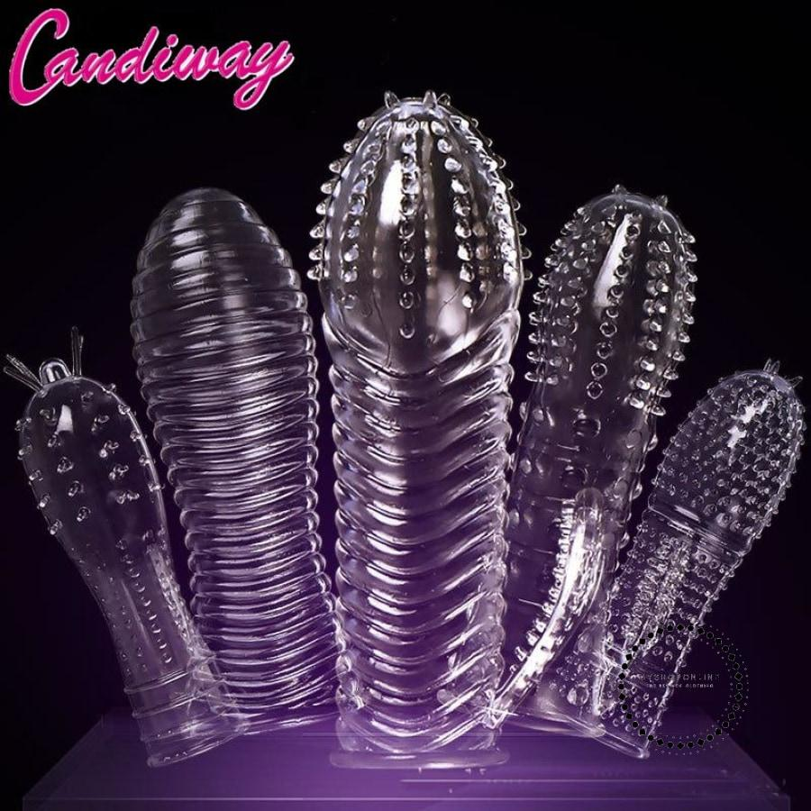 Penis Enlargement Extension Sleeves Head Reusable Condom Contraception Accesorios