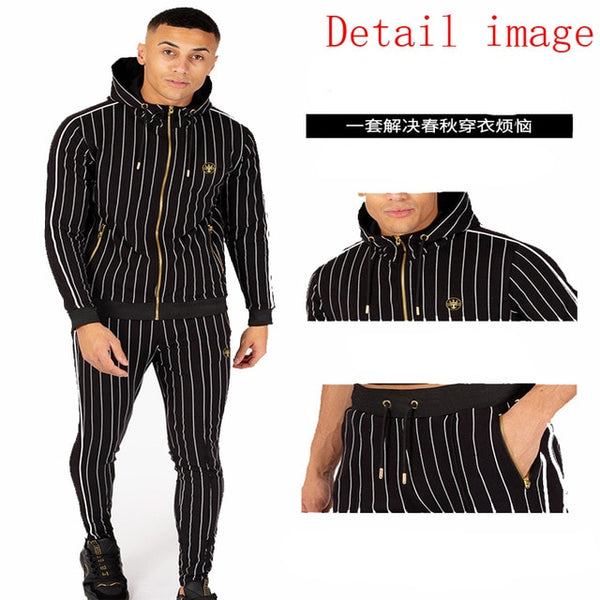 New Plaid suit Leisure Product Men tracksuit Men Track suit Jogging homme Ropa Chandal hombre Tuta uomo Moletom Men clothes