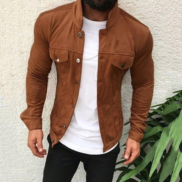 Autumn Winter Leather Biker Jackets Motorcycle Leather Jacket Male Leather Jacket Men Jackets Mens Coat Stand Collar Coats