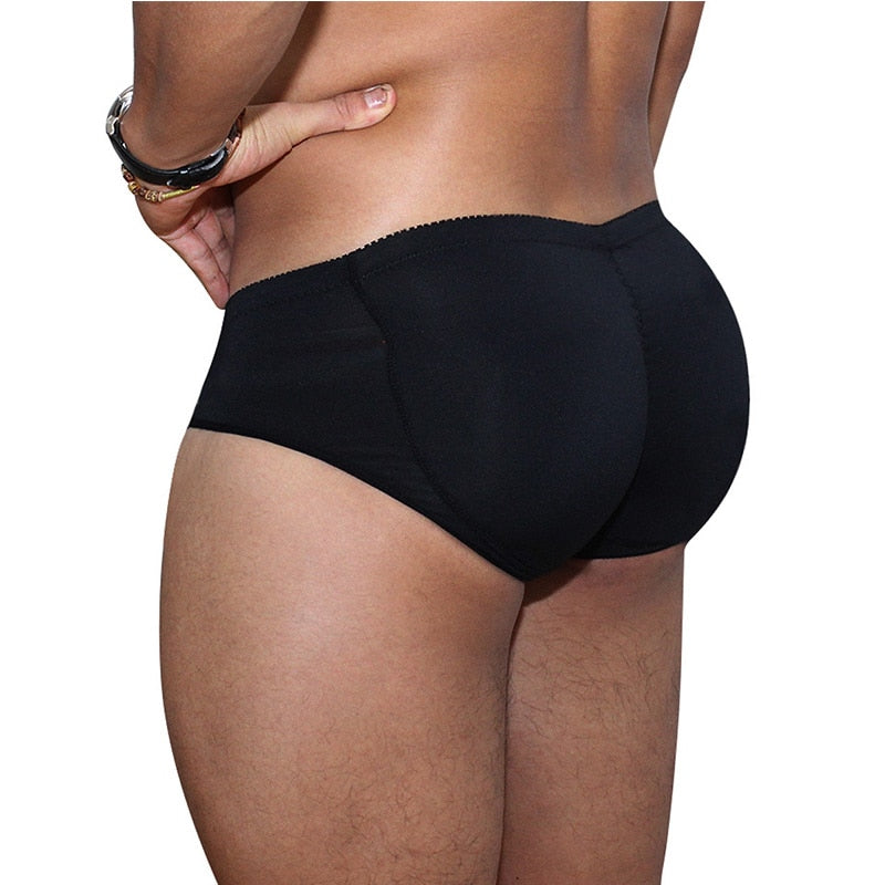 Men's Padded Underwear Butt Lifter Underwear Panties Strengthening Sexy Front + Back Hips Butt Lift Briefs Fake Ass Body Shaper