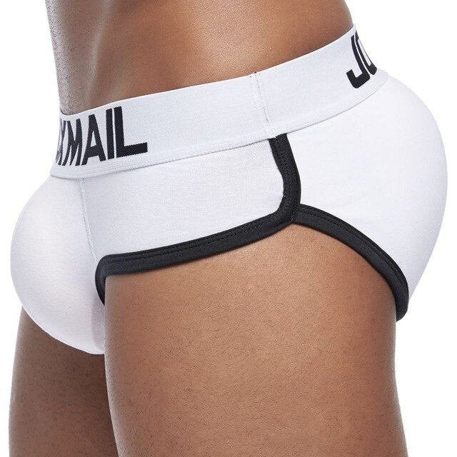 Men padded hip and butt underwear push up cup bulge enhancing underwear penis gay men underwear briefs includes 3 pad