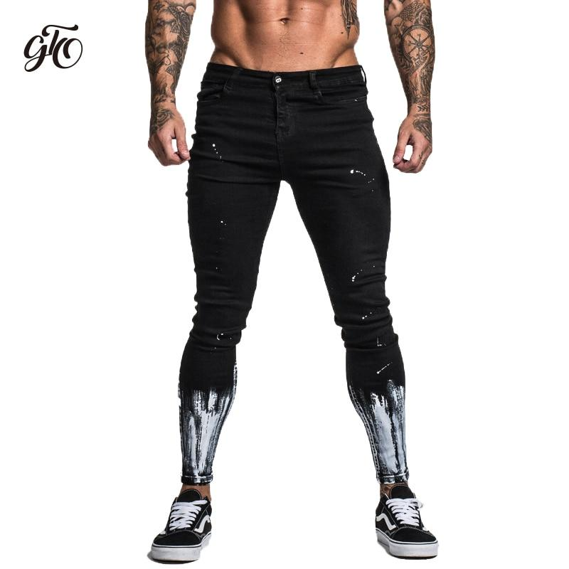 BEST Ripped Jeans For Men Skinny Slim Fit Ankle Tight Light Weight Super Stretch Cotton Spandex Big Size Print Jeans - myshoponline.com
