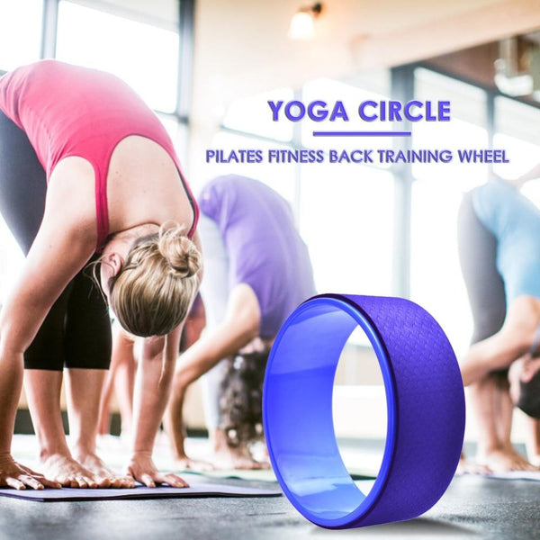 Yoga Wheel Circle Pilates Professional Waist Shape Bodybuilding Material PP+TPE Back Training Tool For Fitness Tools