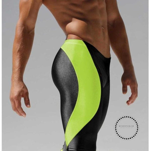 Running Men Pants Training Compression Leggings For Stretch Green 1 / M