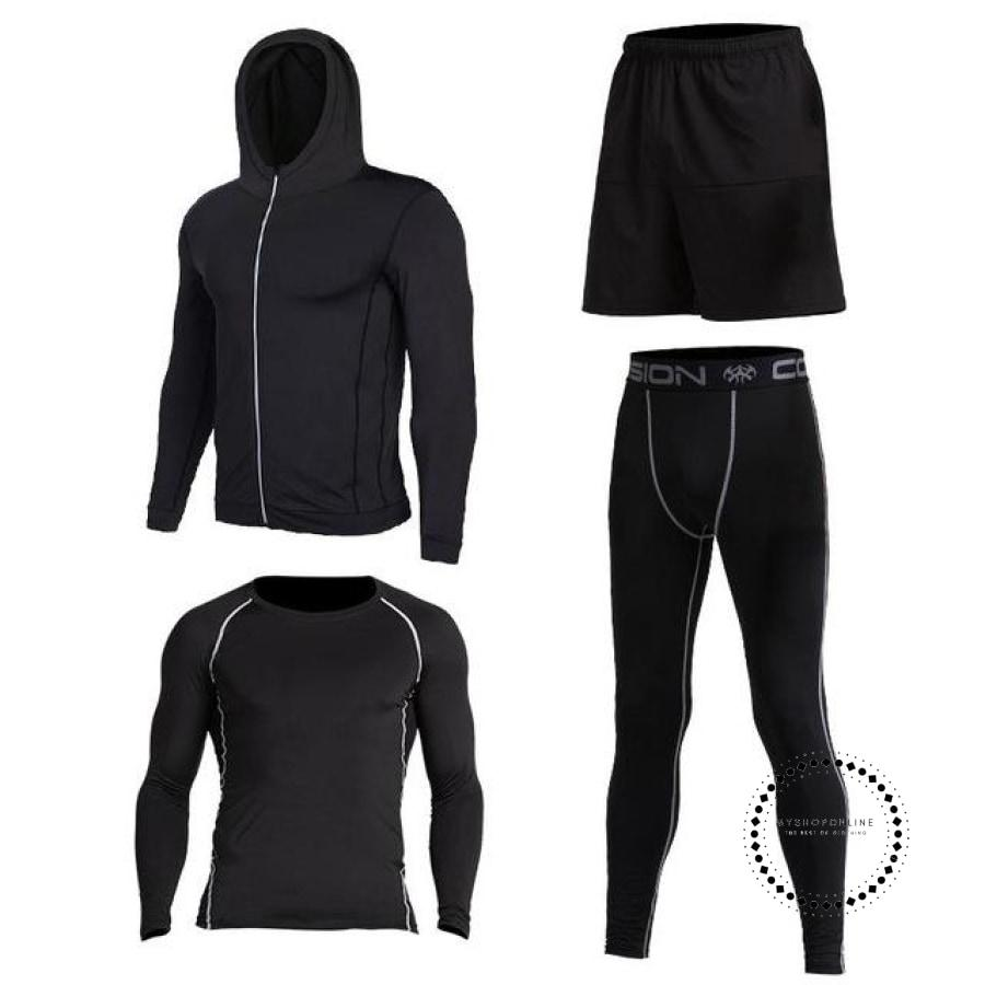 Running Sets Mens Sportswear Gym Clothing 2 / S Accesorios