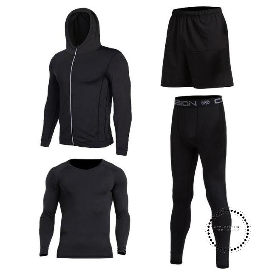 Running Sets Mens Sportswear Gym Clothing 3 / S Accesorios