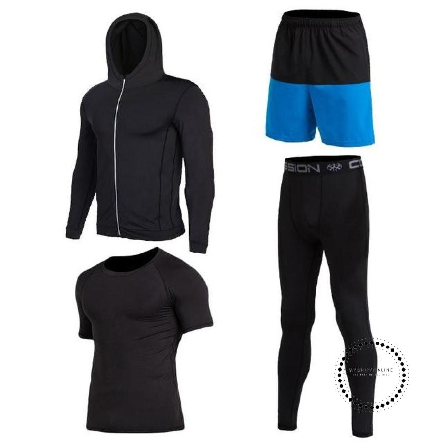 Running Sets Mens Sportswear Gym Clothing 4 / Xl Accesorios
