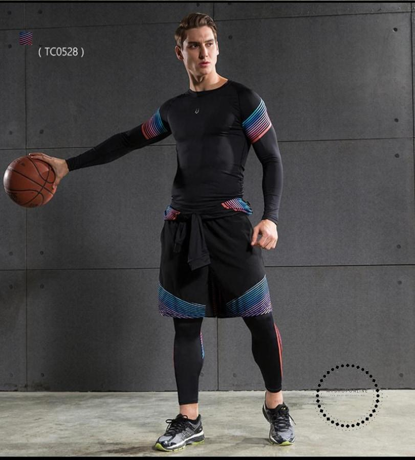 Running Suits Mens Sport Compression Shirt Men 5Pcs/set Training Tracksuits Gym Clothing Sets