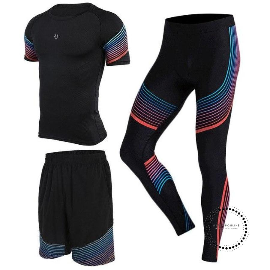 Running Suits Mens Sport Compression Shirt Men 5Pcs/set Training Tracksuits Gym Clothing Sets Tc2000