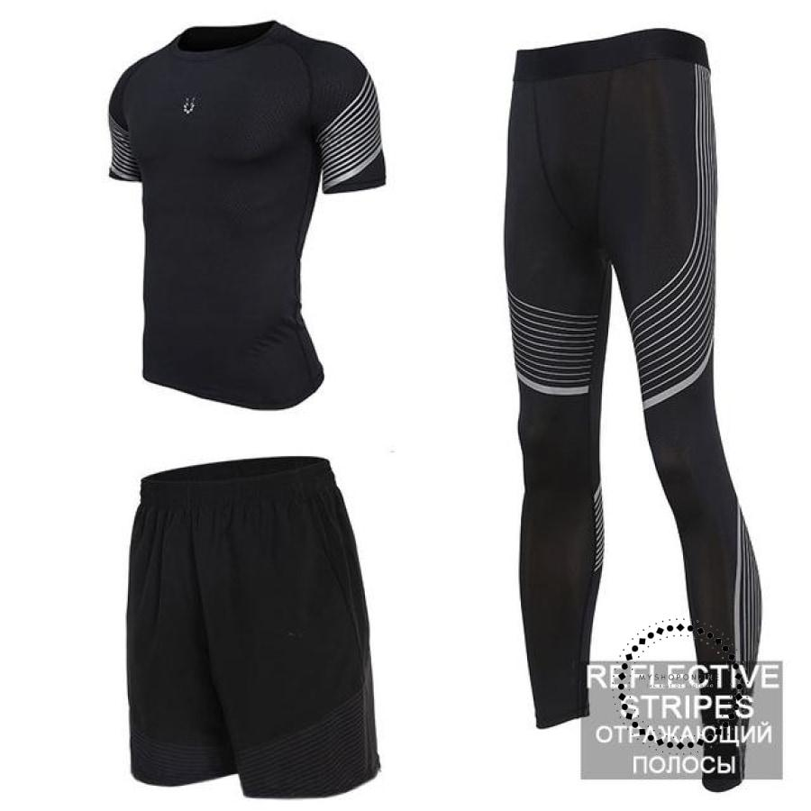Running Suits Mens Sport Compression Shirt Men 5Pcs/set Training Tracksuits Gym Clothing Sets Tc2002