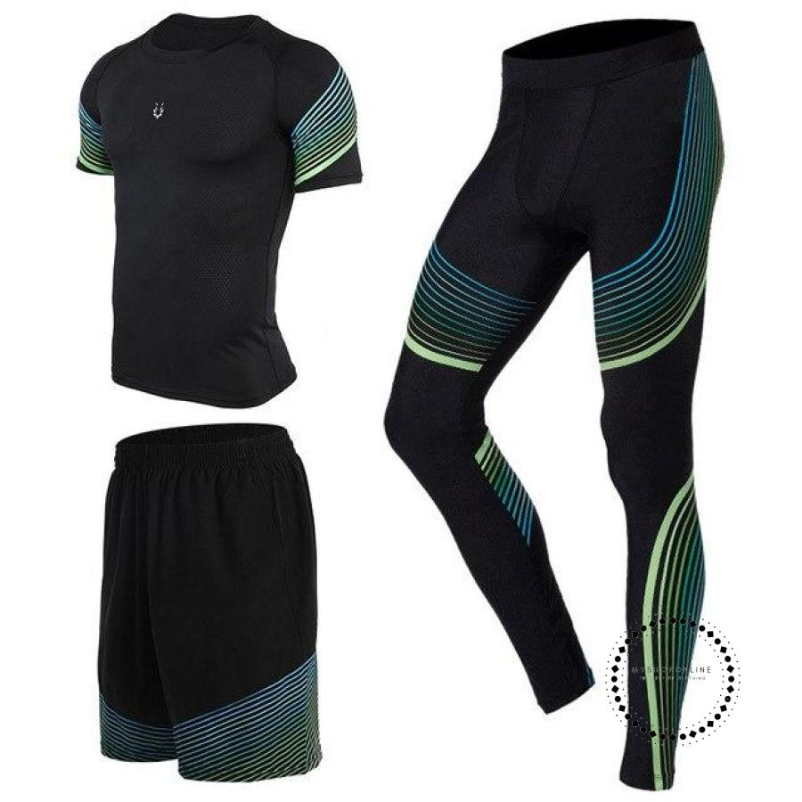 Running Suits Mens Sport Compression Shirt Men 5Pcs/set Training Tracksuits Gym Clothing Sets Tc2003