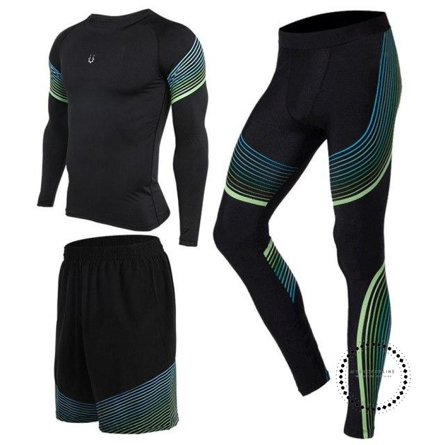 Running Suits Mens Sport Compression Shirt Men 5Pcs/set Training Tracksuits Gym Clothing Sets Tc2005