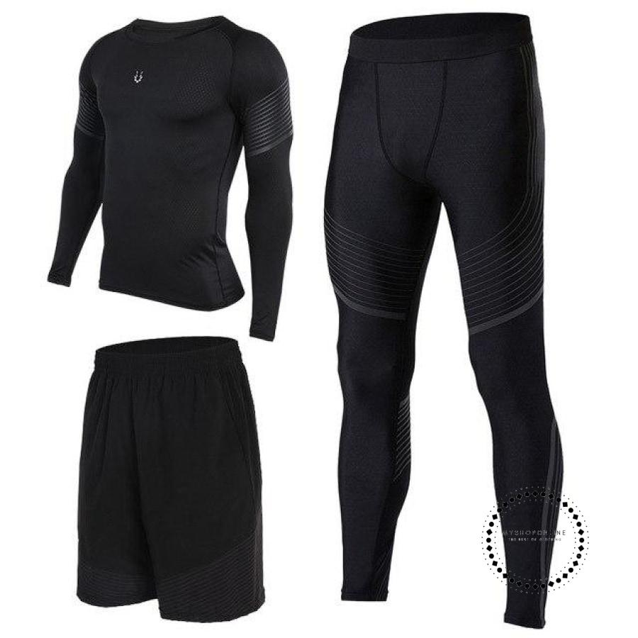 Running Suits Mens Sport Compression Shirt Men 5Pcs/set Training Tracksuits Gym Clothing Sets Tc2006