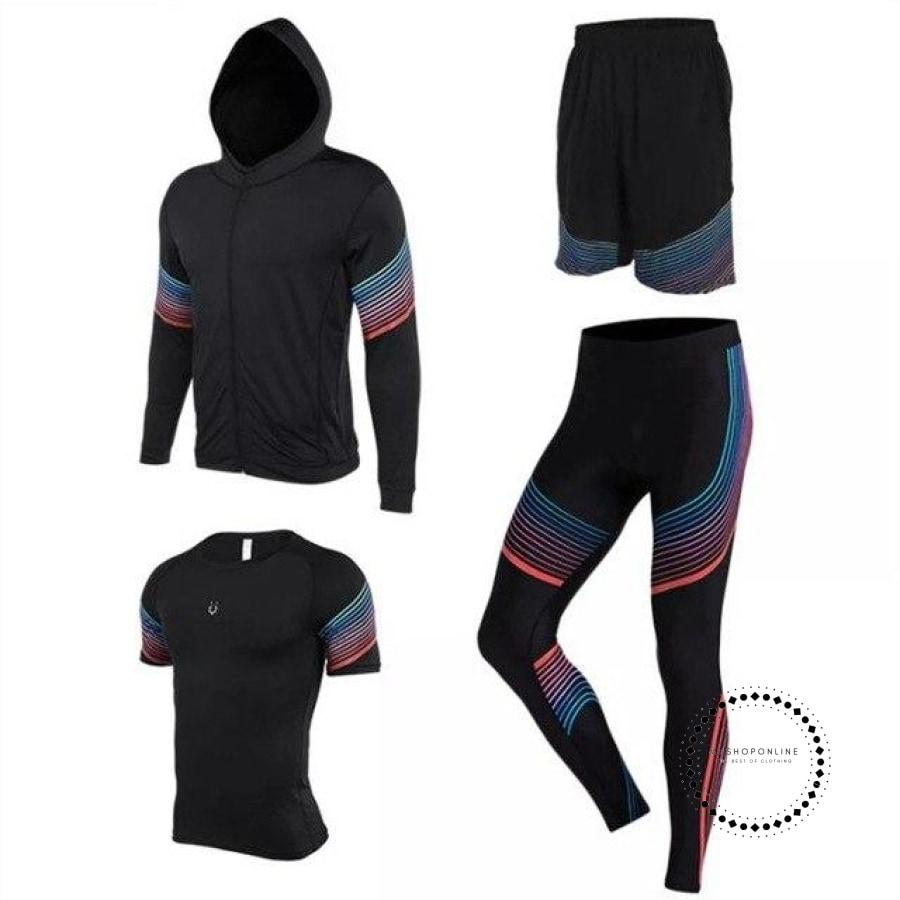 Running Suits Mens Sport Compression Shirt Men 5Pcs/set Training Tracksuits Gym Clothing Sets Tc2010