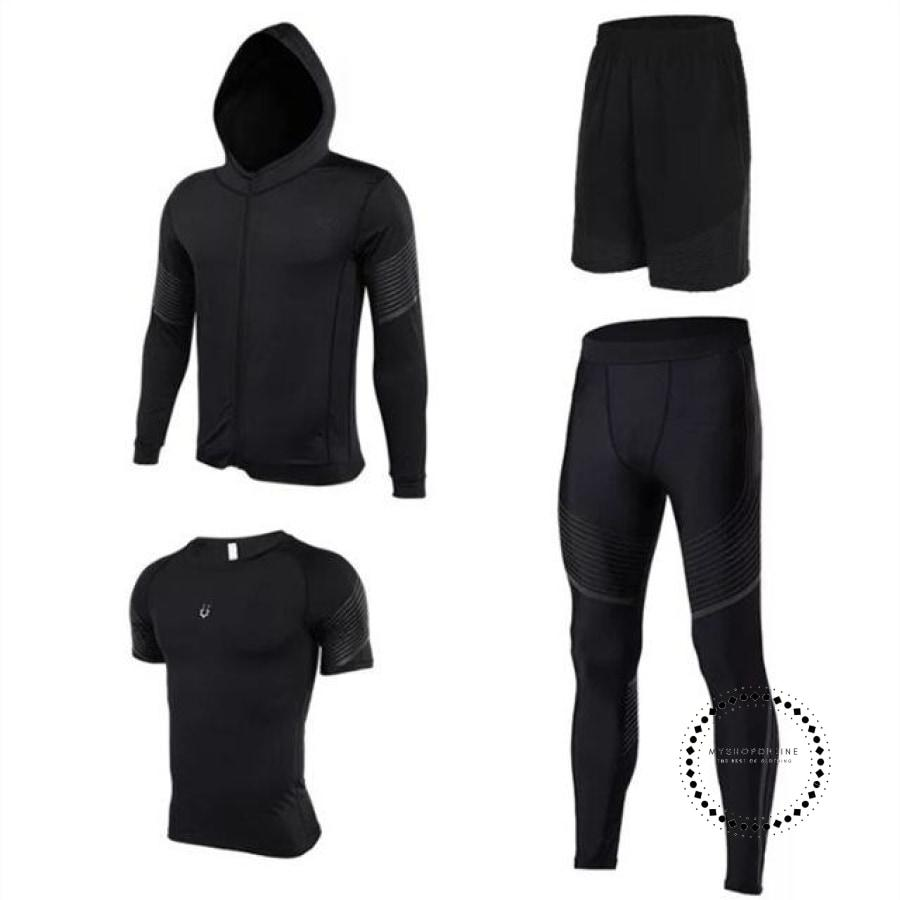 Running Suits Mens Sport Compression Shirt Men 5Pcs/set Training Tracksuits Gym Clothing Sets Tc2011