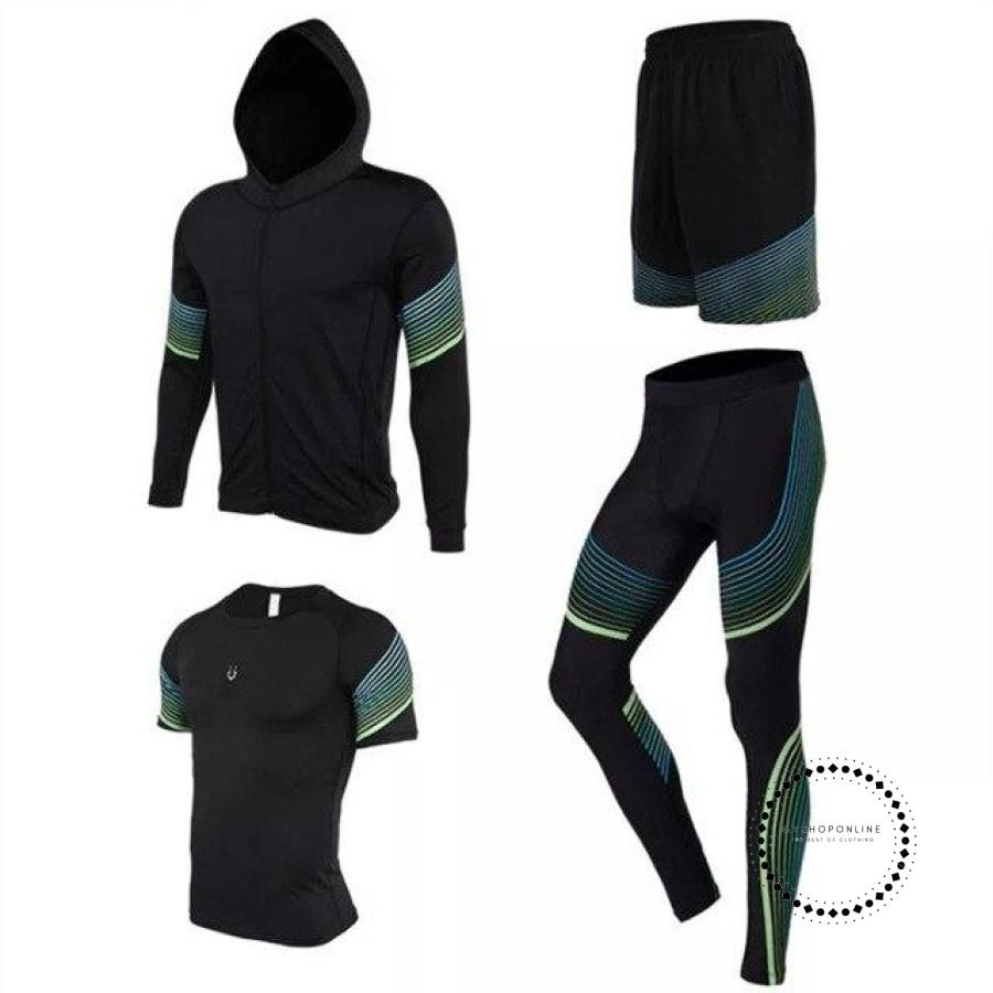 Running Suits Mens Sport Compression Shirt Men 5Pcs/set Training Tracksuits Gym Clothing Sets Tc2012
