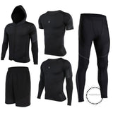 Running Suits Mens Sport Compression Shirt Men 5Pcs/set Training Tracksuits Gym Clothing Sets Tc2013