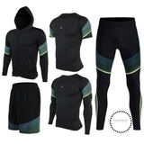 Running Suits Mens Sport Compression Shirt Men 5Pcs/set Training Tracksuits Gym Clothing Sets Tc2015