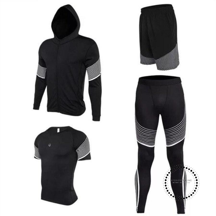Running Suits Mens Sport Compression Shirt Men 5Pcs/set Training Tracksuits Gym Clothing Sets Tc2020