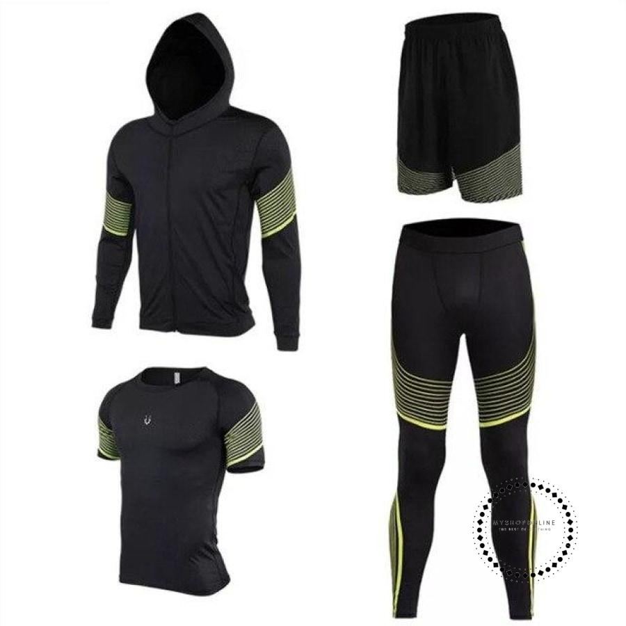 Running Suits Mens Sport Compression Shirt Men 5Pcs/set Training Tracksuits Gym Clothing Sets Tc2021