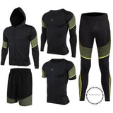 Running Suits Mens Sport Compression Shirt Men 5Pcs/set Training Tracksuits Gym Clothing Sets Tc2023