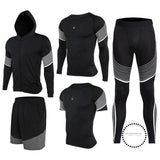 Running Suits Mens Sport Compression Shirt Men 5Pcs/set Training Tracksuits Gym Clothing Sets Tc2024