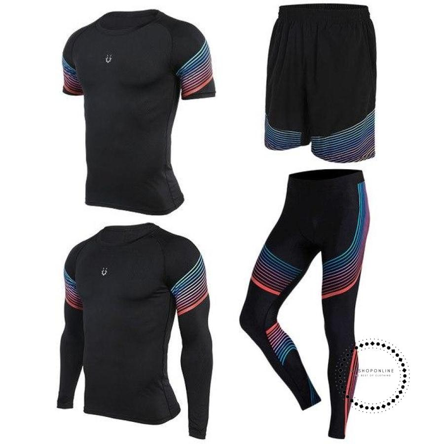 Running Suits Mens Sport Compression Shirt Men 5Pcs/set Training Tracksuits Gym Clothing Sets Tc2026