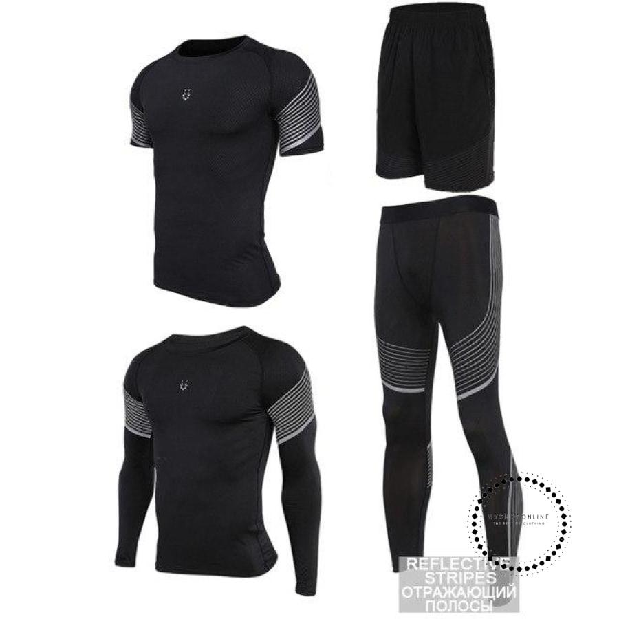 Running Suits Mens Sport Compression Shirt Men 5Pcs/set Training Tracksuits Gym Clothing Sets Tc2027