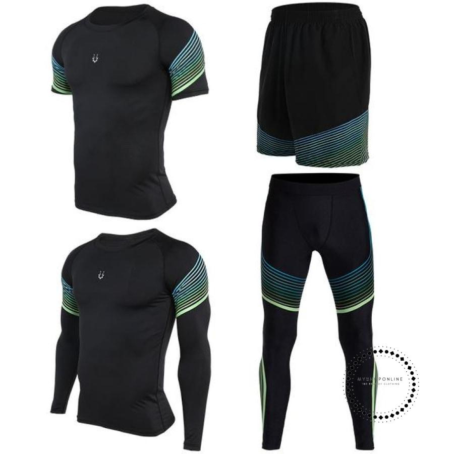 Running Suits Mens Sport Compression Shirt Men 5Pcs/set Training Tracksuits Gym Clothing Sets Tc2028