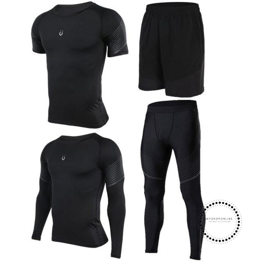 Running Suits Mens Sport Compression Shirt Men 5Pcs/set Training Tracksuits Gym Clothing Sets Tc2029