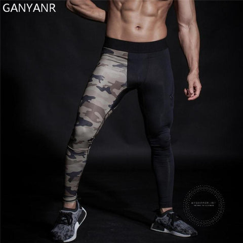 Running Tights Men Basketball Yoga Compression Pants Athletic Sport Leggings Gym Jogging Fitness