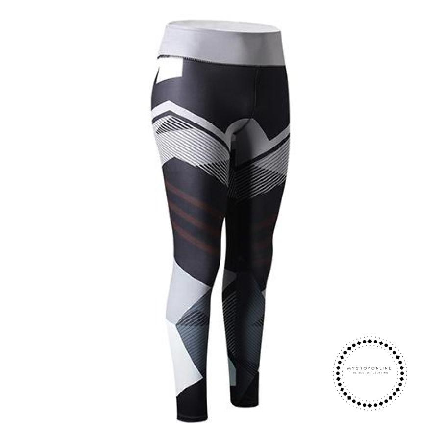Sexy Fitness Leggings Women Black With Grey / L Ropa Intérieur